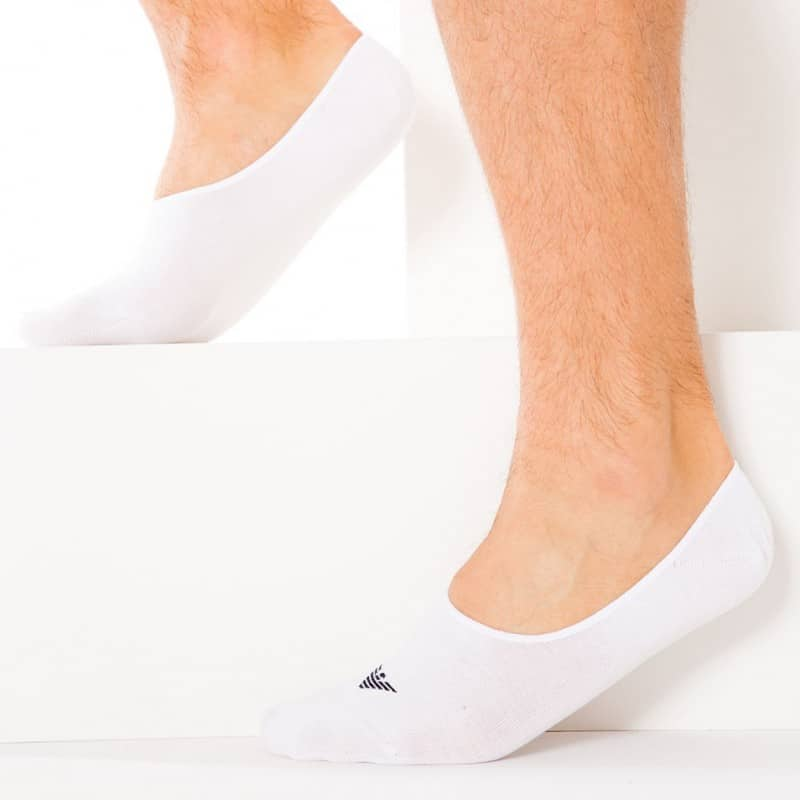 2-Pack Inside Invisible Socks - White