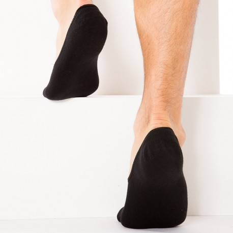 2-Pack Inside Invisible Socks - Black
