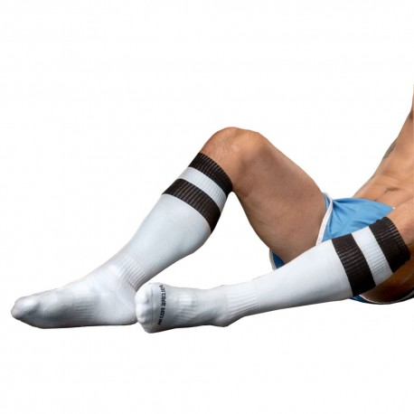 Football Socks - Black - White