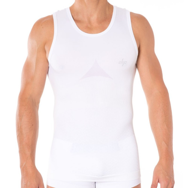 Fit Man Sculpture Tank Top - White