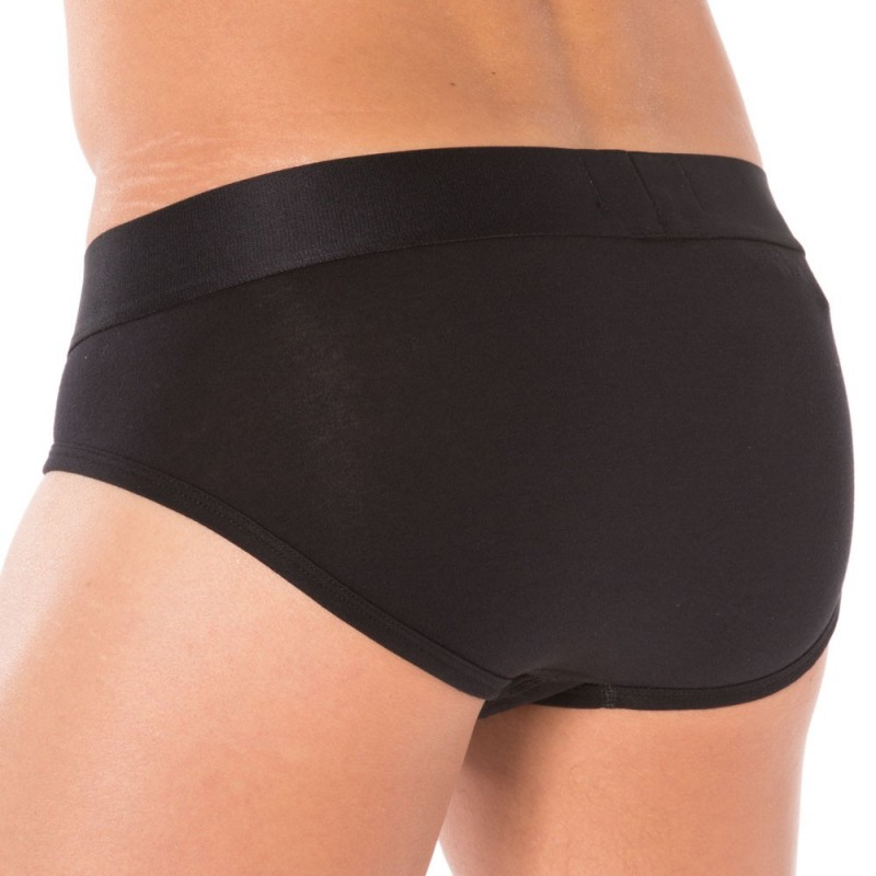 Slip Stretch Cotton Noir