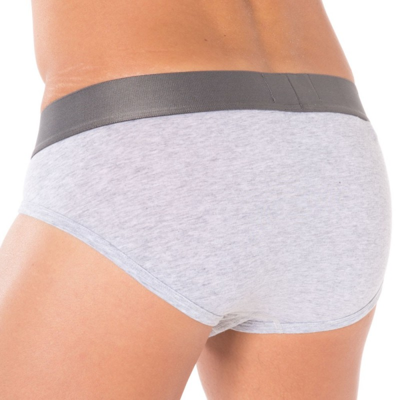 Slip Stretch Cotton Gris