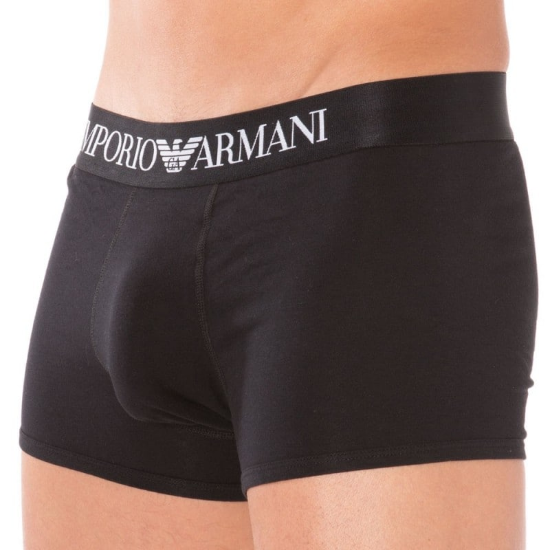Emporio Armani Boxer Stretch Cotton Noir