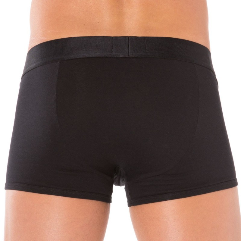 Boxer Stretch Cotton Noir