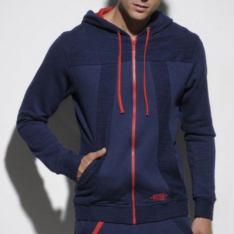 Veste Hoody Inside Out Marine