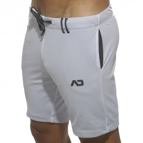 Loop Mesh Knee Pants - White