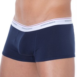 Shorty Jersey Cotton Stretch Bleu