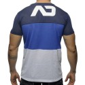 T-Shirt V-Neck Three Colors Mesh Marine - Royal