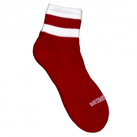 Chaussettes Petty - Rouge - Blanc