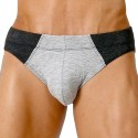Rigby Brief - Grey - Black