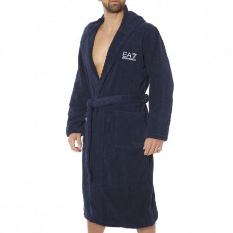 EA7 Sea World Bathrobe - Navy