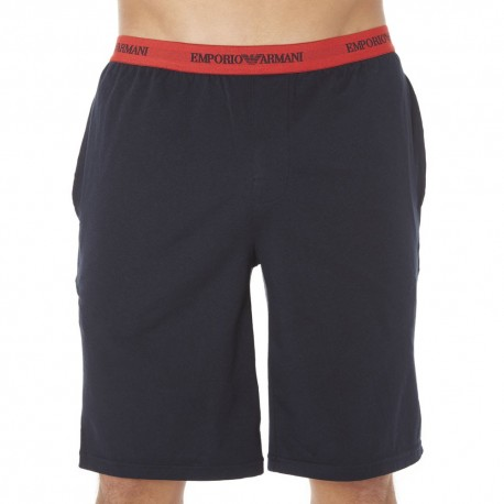 Bermuda Colored Basic Cotton Stretch Marine