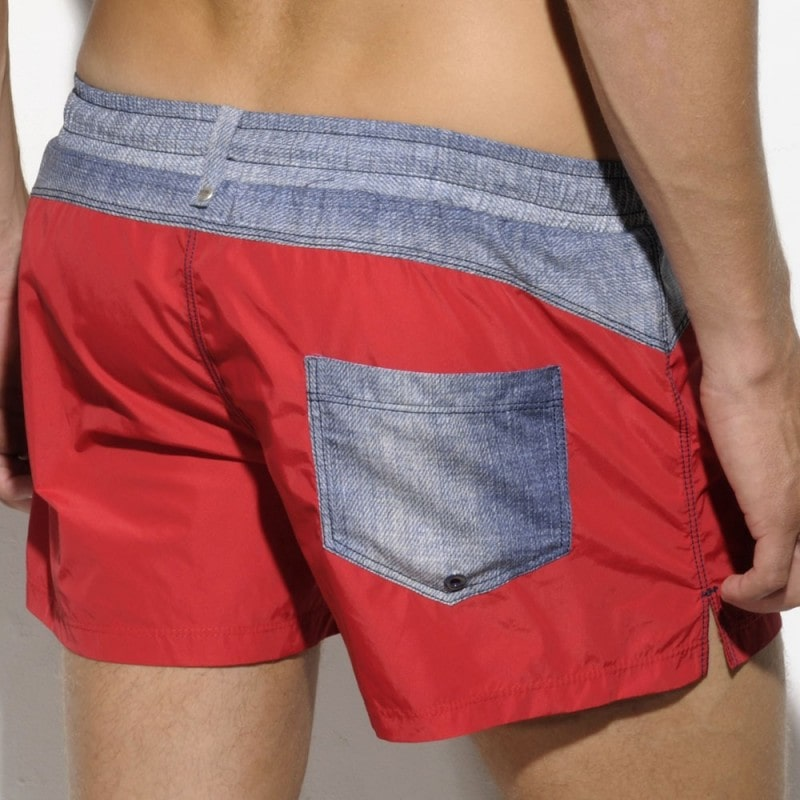 Short de Bain Rachid Anchor Rouge