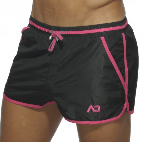 Short de Bain Basic Piping Noir