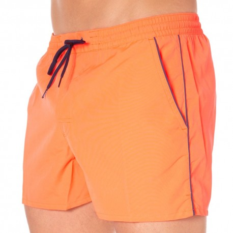 Short de Bain Rosco Orange Fluo
