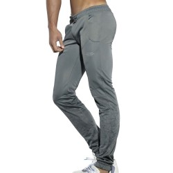 Geometric Casual Pants - Grey