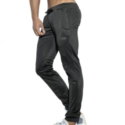 Geometric Casual Pants - Black