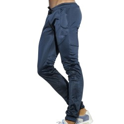 Geometric Casual Pants - Navy