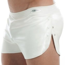 Short Leather Blanc
