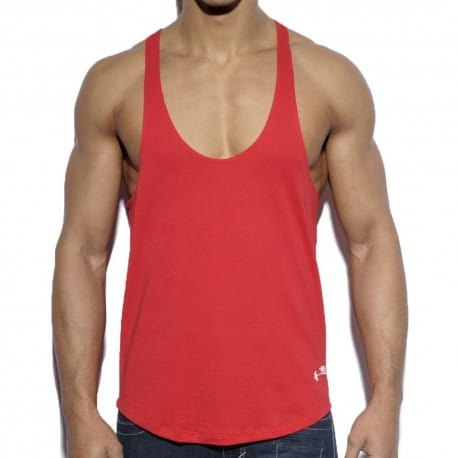 Fitness Plain Tank Top - Red
