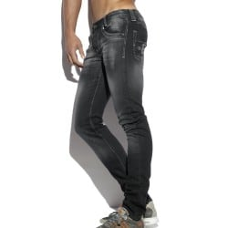 Pantalon Jeans Relief Pockets Noir