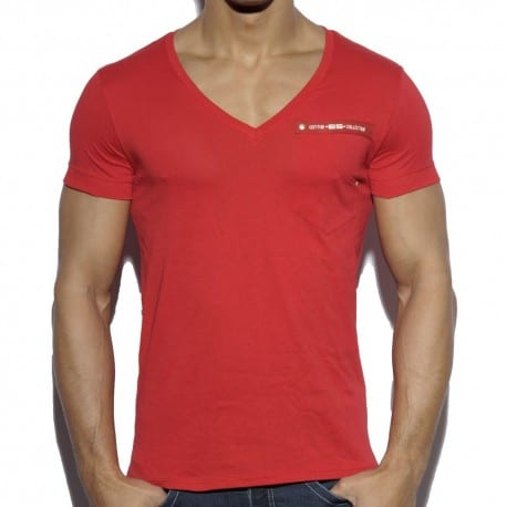 T-Shirt Military Style Rouge