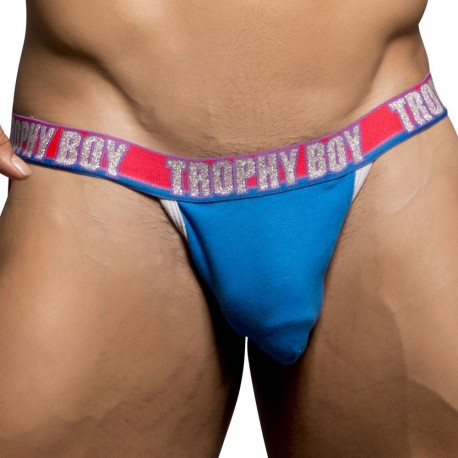 Jock Strap Trophy Boy Show-It Bleu Electrique