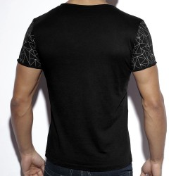 T-Shirt Geometric Noir