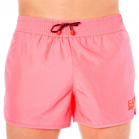 Short de Bain EA7 Sea World Bright Rose Fluo
