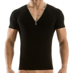 T-Shirt Zipper Noir