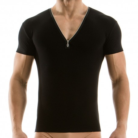 Zipper T-Shirt - Black