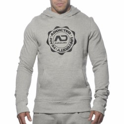 Sweat-Shirt Hoody Stamp Gris
