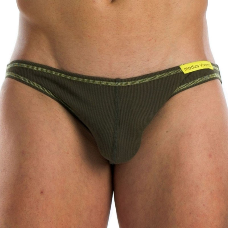 Flash Super Low Cut Brief -  Khaki - Yellow