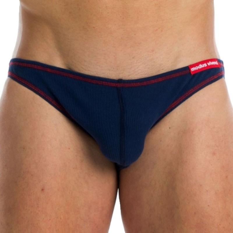 Flash Super Low Cut Brief - Blue - Red