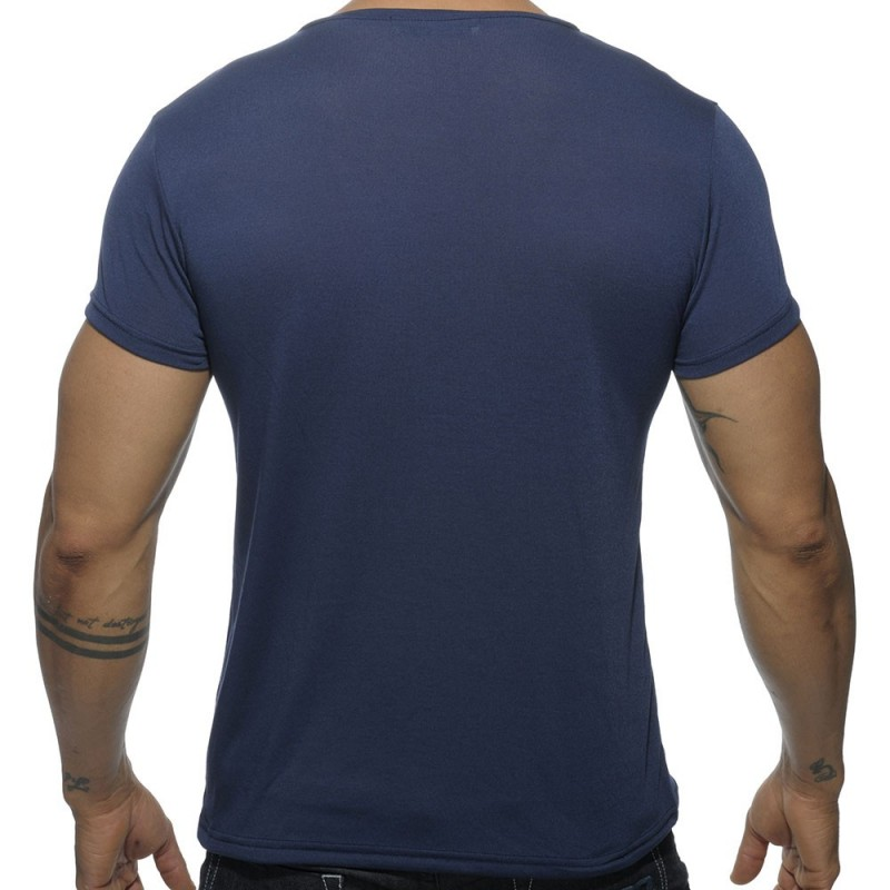 Addicted T-Shirt V-Neck Basic Marine