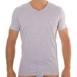Lot de 2 T-Shirts V-Neck Pure Cotton Marine - Gris