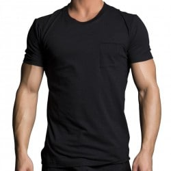 T-Shirt Black Collection Luxe Pocket Noir