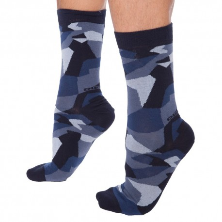 Chaussettes Camouflage Bleues