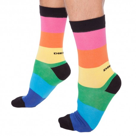 Chaussettes Rayures Larges Multicolores