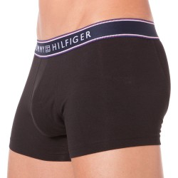 Boxer Cotton Stripe Noir