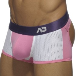 Boxer Contrast Mesh Bottomless Rose