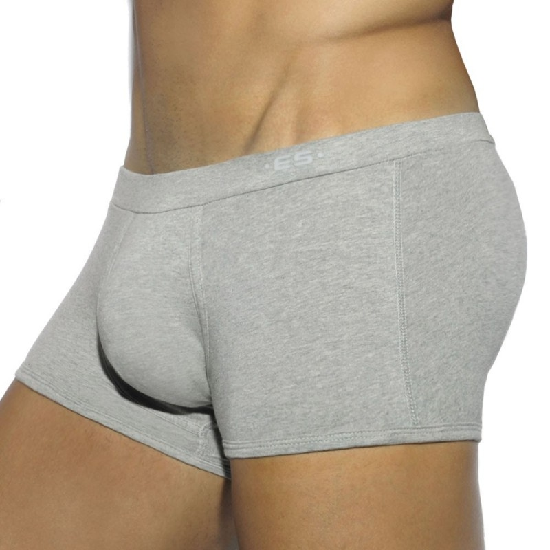 ES Collection Lot de 3 Boxer Basic Cotton Blanc - Noir - Gris