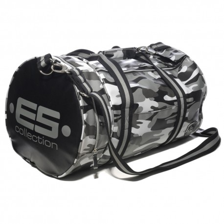 Sac de Sport Athletic Camouflage Gris