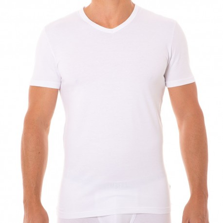 T-Shirt Stretch Cotton Blanc