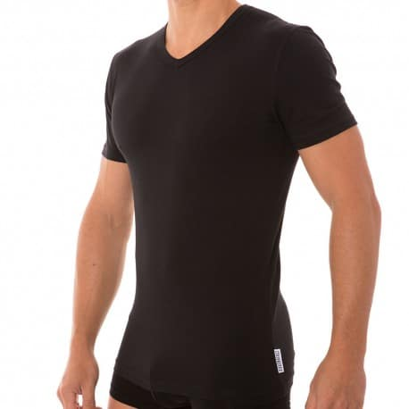 T-Shirt Stretch Cotton Noir