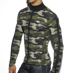 T-Shirt Color Turtleneck Camouflage