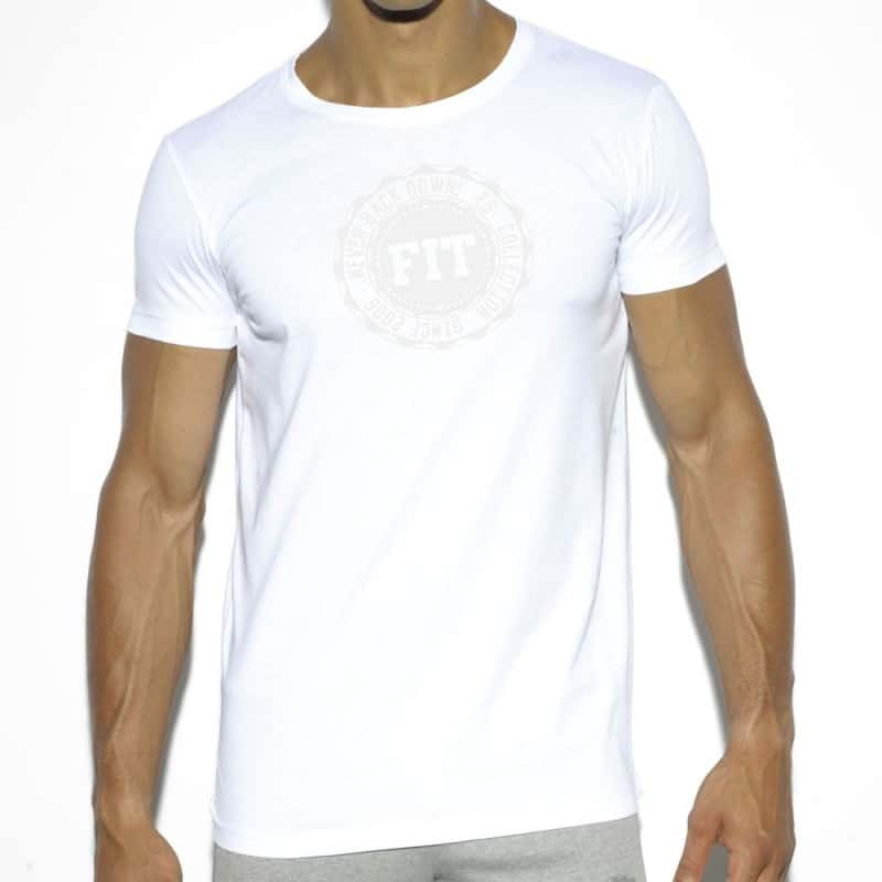ES Collection T-Shirt Basic Cotton Fit Blanc