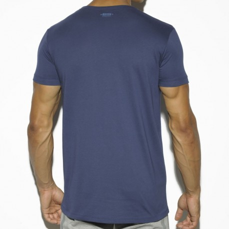 T-Shirt Basic Cotton Fit Marine