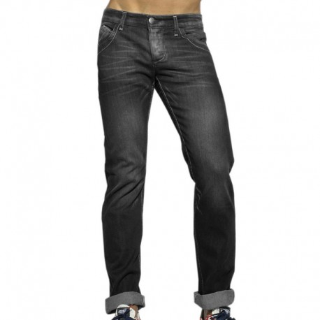 ES Collection Pantalon Jeans Regular Gris