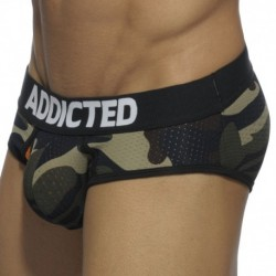 Addicted Contrasted Mesh Brief - Camouflage